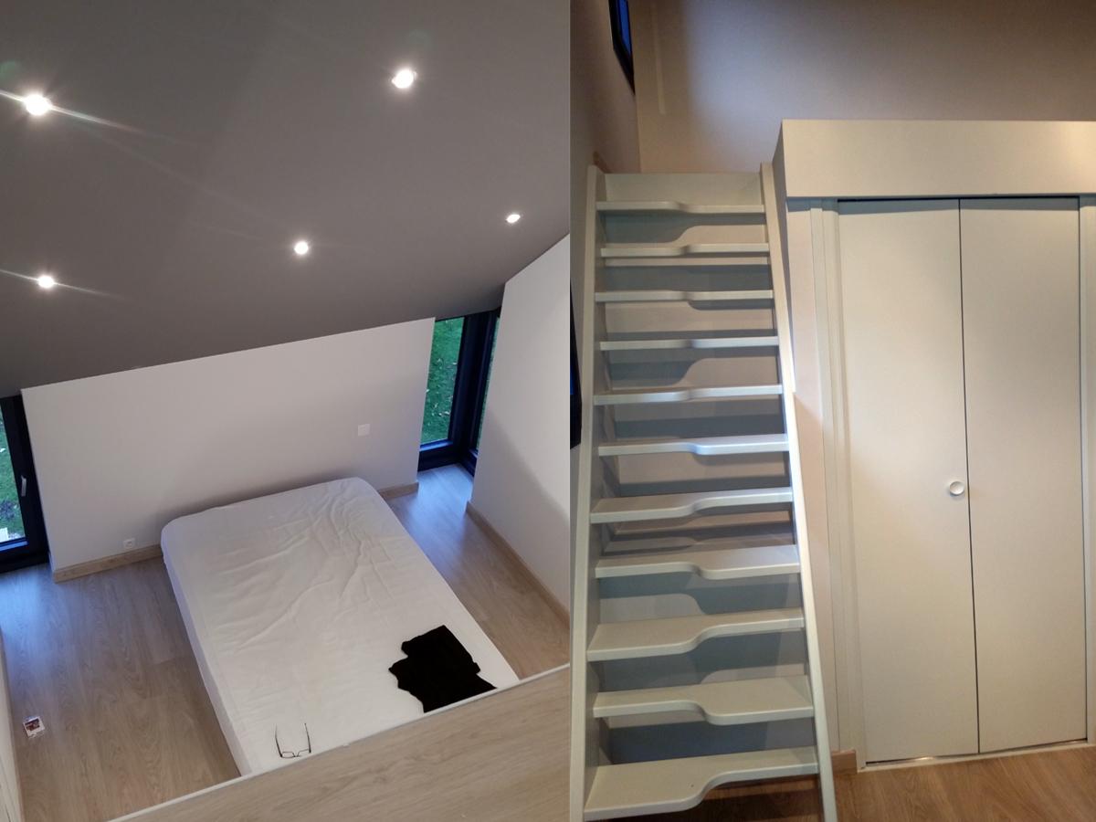 Avant/après : isolation, peinture et aménagement d\'une chambre
